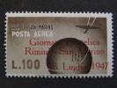 """SAN MARINO Aerea-1947- """"Giornata Filatelica"""" £. 100 MH* (descrizione) - Nuovi"""