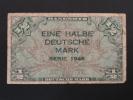 1948 - Billet 1/2 Mark - EINE HALBE DEUTSCHE MARK - Série 1948 - Allemagne - Germany - Deutschland - 1/2 Mark