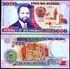 MOZAMBIQUE 5000 5,000 METICAIS 1991 P 136 UNC - Mozambique