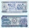 MOZAMBIQUE 500 METICAIS 1980 PICK 127 UNC PREFIX AA - Moçambique