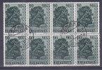 LIECHTENTEIN - 341 Obli (bloc De 8) Cote 40 Euros Depart A 10% - Used Stamps