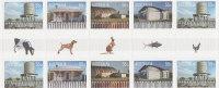 Australia  2009 Corrugated Landscapes   Gutter Strip MNH - Sheets, Plate Blocks &  Multiples