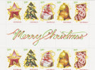 Australia  2009 Merry Christmas   Gutter Strip MNH - Sheets, Plate Blocks &  Multiples