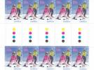 Australia  2011 Skiing  Gutter Strip MNH - Sheets, Plate Blocks &  Multiples