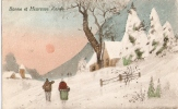 Carte Postale - Bonne Année - Paysage Enneigé - New Year