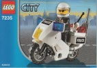 Lego 7235 Moto De Police Avec Plan 100 % Complet Voir Scan - Lego System