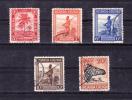 RUANDA -URUNDI   1943   Y&T    # 125 , 141 , 142 , 144, 145  , Cv 3,15  E . Used  ,  V V F - Ruanda
