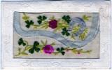 CARTE BRODEE ENVELOPPE AVEC CARTON SOUVENIR A L'INTERIEUR - Embroidered