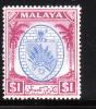 Negri Sembilan 1949-55 Arms $1 MLH - Negri Sembilan