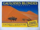 Publicité Jeu Gauloises Blondes Allumettes L'Aventure En Afrique En Asie Ou En Amérique 1989 - Publicité