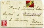 España 1937. Carta De Granada A Tetuan. Censura. - Marcas De Censura Nacional