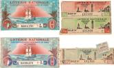 Loterie Nationale /2 Débitants De Tabac 1940  BNCI/ 3 Crédit Du Nord 1946     VP431 - Billets De Loterie