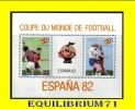 """BL48** (1108/1109) """"Espana 82"""" - ZAIRE - Zaire"""
