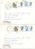 Recommandée - Aangetekend - Bornem 1 C - 15-10-90 - Deux Lettres, R 420 Et R 421 - Belgique