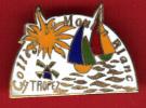 21020-pin's.Saint Tropez.college Moulin Blanc.signé Baudino Nice.numéroté 42. - Ciudades
