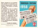 TESSERA DEMOCRAZIA CRISTIANA 1956 DE GASPERI - Collections