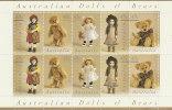 Australia 1997 Dolls& Bears   Sheetlet MNH - Sheets, Plate Blocks &  Multiples