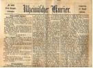 1870 - Kriegsberichte  -  Uralte Orig. Tages-Zeitung  -  Rheinischer Kurier  Vom 18. August - Zeitungen & Zeitschriften