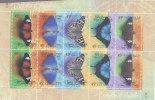 Australia 1998  Butterflies    Sheetlet MNH - Sheets, Plate Blocks &  Multiples
