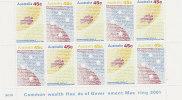 Australia 2001 Parliamentary Conference Sheetlet MNH - Sheets, Plate Blocks &  Multiples