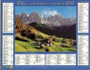ALMANACH DES PTT  2011 RHONE - Calendars