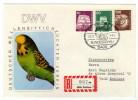 Animals And Fauna / Birds / Parrots / Perroquets / Letter / Cashet Parrots - Papageien