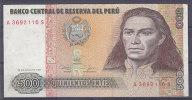 PEROU - Billet De 500 (26/06/1987) - Perú