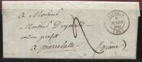 VALREAS (Vaucluse): Cachet à Date Type 14  (1841) Lettre De Visan - 1801-1848: Précurseurs XIX