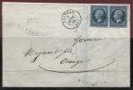 VALREAS (Vaucluse): Petit Chiffre + Cachet Type 15 Sur 2 N° 14 _ SUPERBE - 1849-1876: Période Classique