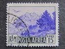 """SAN MARINO Aerea-1950- """"Vedute"""" £. 15 US° (descrizione) - Nuovi"""