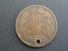 1854 - 10 Centimes - Luxembourg - Monnaie Percée - Luxemburgo