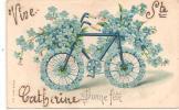 VIVE SAINTE SAINTE CATHERINE - Vélo En Myosotis - Prénoms