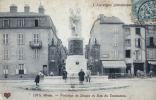 63 - RIOM - CPA - Fontaine De DESAIX Et Rue Du Commerce - 1907 - Riom