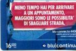 X BLU RICARICA CONTINUA 16000 ITALIA USATA - Pubblicitari