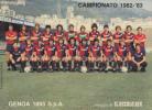 CALENDARIETTO PICCOLO 10,50 X 8 CAMPIONATO 1982-1983 PARTITE GENOA 1893 S.p.A. DEL SECOLO XIX  COMPLETO E INTEGRO - Formato Piccolo : 1981-90