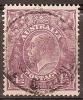 AUSTRALIA -  1927 4½d King George V, Small Mult Watermark (wmk 203), Perf 14. Scott 74. Used - 1913-36 George V: Heads