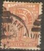 VICTORIA - 1884 VICTORIA 1/6d (Eighteen Pence) ORANGE USED - 1850-1912 Victoria