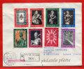 VATICAN LETTRE RECOMMANDEE DU 30/10/1962 DU VATICAN POUR PITHIVIERS FRANCE COVER - Marcophilie - EMA (Empreintes Machines)