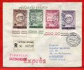 VATICAN LETTRE RECOMMANDEE DU 14/04/1962 DU VATICAN POUR PITHIVIERS FRANCE COVER - Marcophilie - EMA (Empreintes Machines)