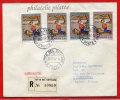 VATICAN LETTRE RECOMMANDEE DU 26/02/1962 DU VATICAN POUR PITHIVIERS FRANCE COVER - Marcophilie - EMA (Empreintes Machines)