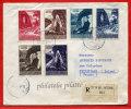 VATICAN LETTRE RECOMMANDEE DU 25/11/1958 DU VATICAN POUR PITHIVIERS FRANCE COVER - Marcophilie - EMA (Empreintes Machines)