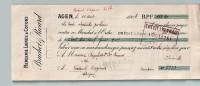 Mandat  10/08/1908  -  AGEN  Vers  VERTEUIL  -  BRUCHET  &  RICARD à   DEGALS  &  DUMAS  -  Mercerie  Laines,  Cotons - Lettres De Change
