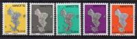 Mayotte - 2004/08 - Série Courante - Yvert N° 150a, 151b, 158a, 159a & 160a ** - Non Classés