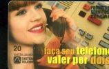 X BRASILE TELEFONO RAGAZZA TELEFONE GIRL - Telefoni