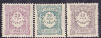 Portugal Porteado 1904-- 20-30- 40 Reis - MVLH - Afinsa 9- 10- 11 -- No Faults - Unused Stamps