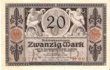 BILLETE DE ALEMANIA DE 20 MARCOS DEL AÑO 1915   (BANKNOTE-BANK NOTE) - [ 2] 1871-1918 : Imperio Alemán