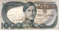 BILLETE DE PORTUGAL DE 1000 ESCUDOS  DEL AÑO 1968 SERIE AID (BANKNOTE-BANK NOTE) - Portugal