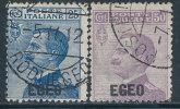 ITALY AEGEAN ISLANDS 1912 FIRST ISSE SC# 1-2 F-VF USED SCARCE - Aegean