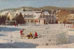 Sainte-Adèle-en-Haut Québec P.Q. - Ski Skiing - Travelled 1954 - VG Condition - 2 Scans