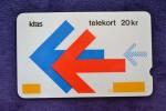 DENMARK - 1st Puzzle 2nd Print  - Glossy - 20KR - Position 3 -  99 Control - RARE - Denmark
